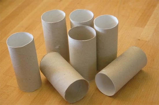 Rolos de papelão
