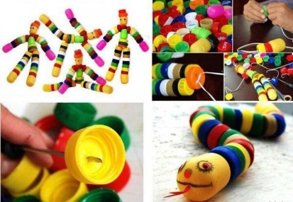 Favoritos 12 ideias de brinquedos com tampinhas de garrafa recicladas UJ06