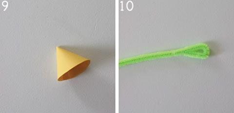 Tutorial para flor de papel