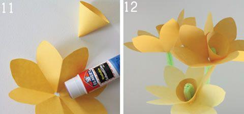 Passos para fazer uma flor de papel