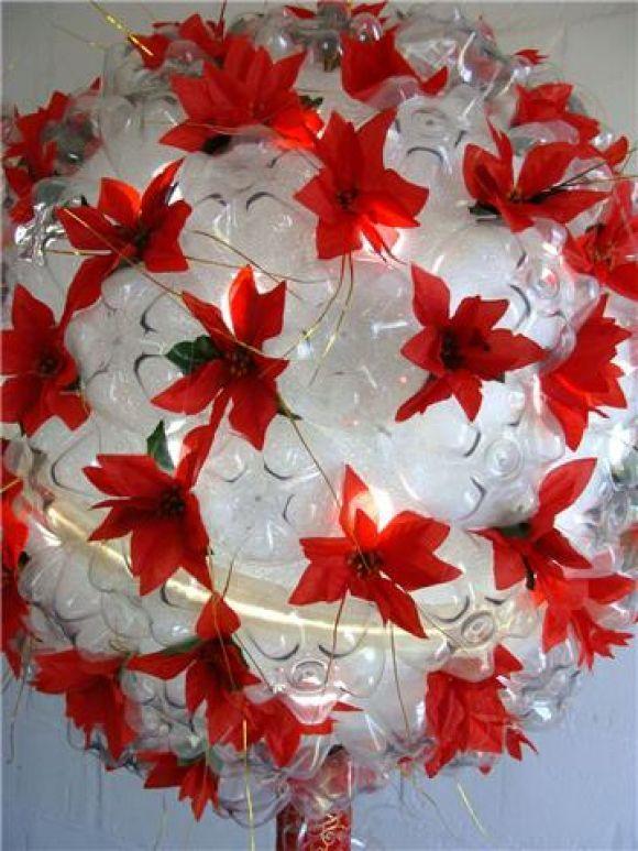Reciclagem de garrafas pet para decoraç u00e3o -> Decoração De Festa Com Garrafa Pet