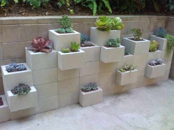 mesa jardim concreto : mesa jardim concreto:como jarrinhos de plantas? Ficam exuberantes demais. Seu jardim pode