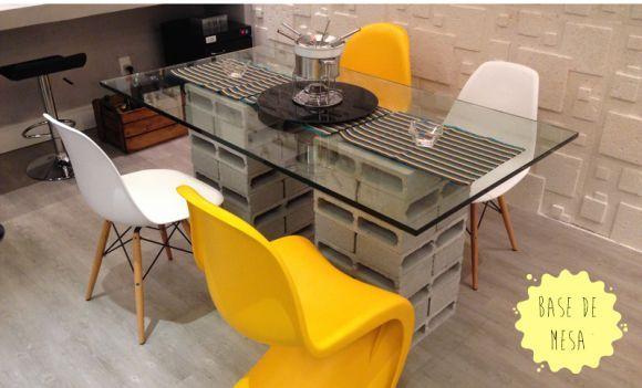 mesa jardim concreto : mesa jardim concreto:as adegas de vinhos podem ser substituídas pelos blocos de concreto
