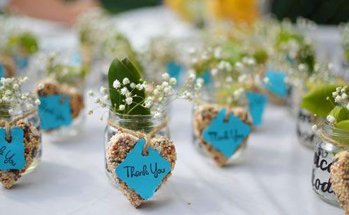 Lindas lembrancinhas com plantinhas para casamento