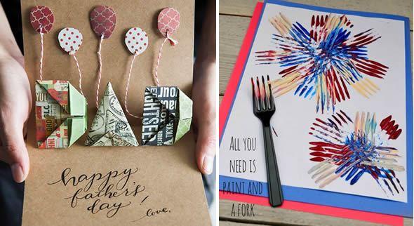 Cartões personalizados para o Dia dos Pais