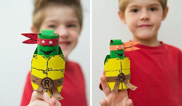 artesanato-com-rolinhos-de-papelao-tartarugas-ninja-14