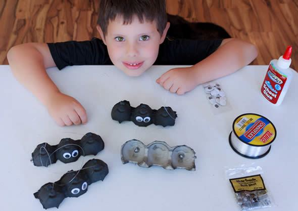 Morcegos para artesanato de Halloween
