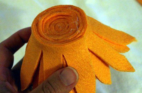 Criando uma flor de feltro - PAP