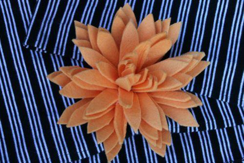Tipo de flor de feltro