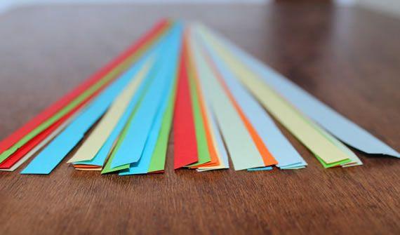 Filetes de papel para fazer filigrana
