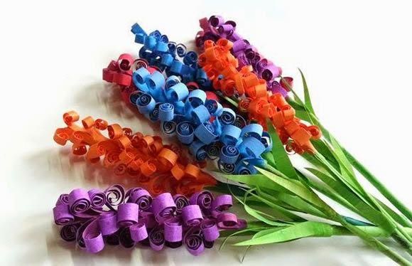 Flores coloridas para fazer em casa passo a passo