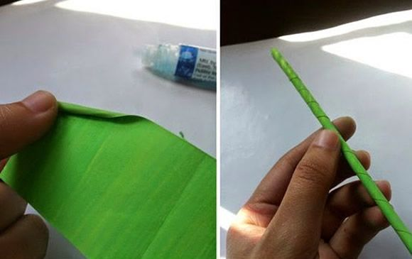 Artesanato com papel de seda