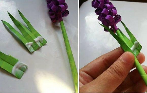 Flores de papel de seda passo a passo