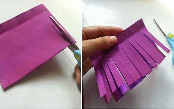 Artesanato com papel de seda passo a passo