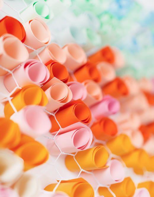 Papeis coloridos para decoração passo a passo