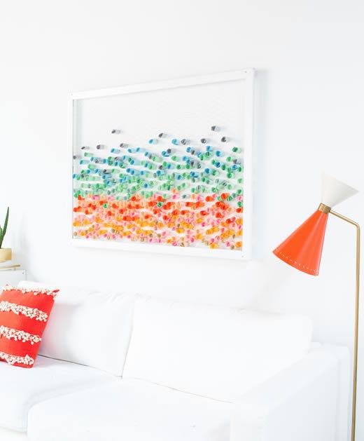 Como fazer decoração para casa com papeis coloridos