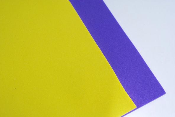 Placas de EVA - Amarela e Roxa