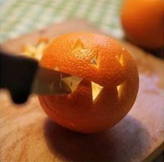 Fazendo artesanato com laranja