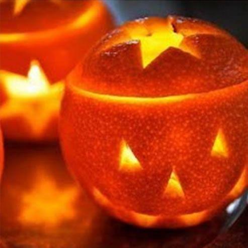 Decoração para Halloween com laranjas passo a passo
