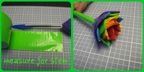 Criando flores com fitas adesivas