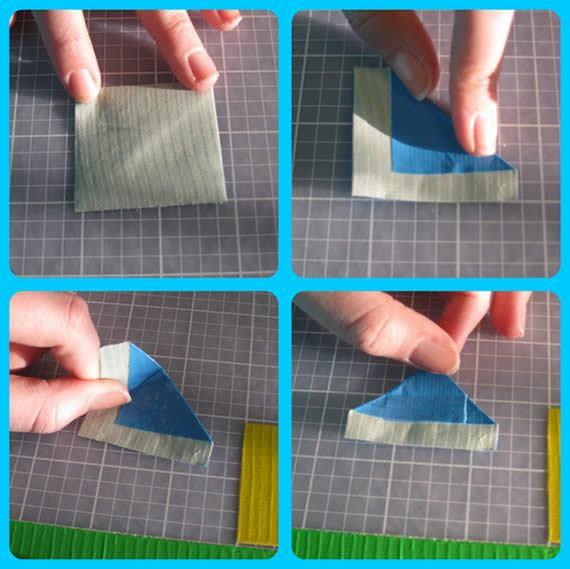 Passo a passo de lembrancinhas com fitas adesivas coloridas
