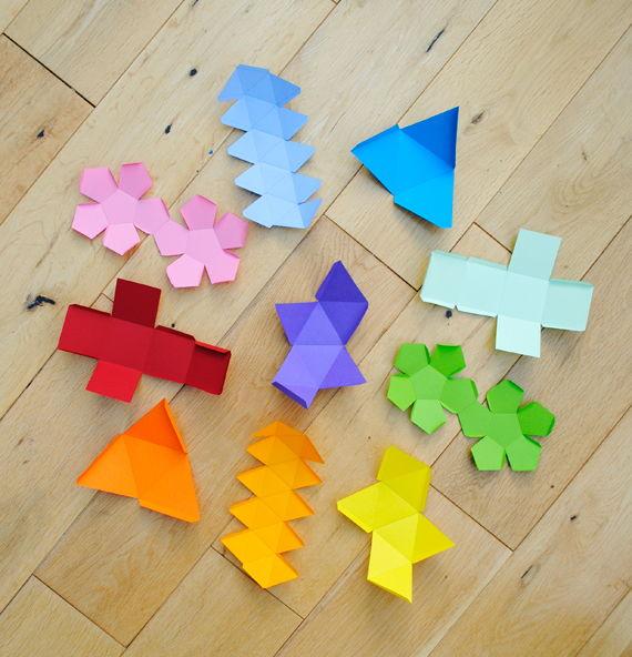 Como fazer várias formas geométricas com molde
