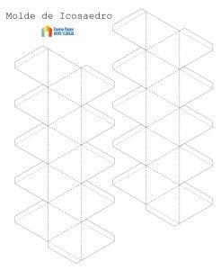 Molde para fazer triângulo de papel