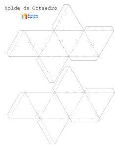 Como fazer um molde com forma geométrica