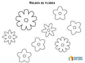 Moldes de flores para artesanato