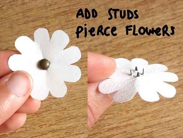 Flores de plásticos para decorar camisas