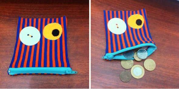 Porta-moedas para crianças fácil de fazer