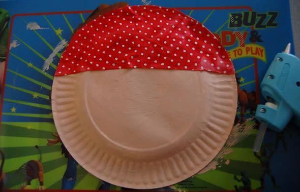 Criando artesanato com prato de papelão passo a passo