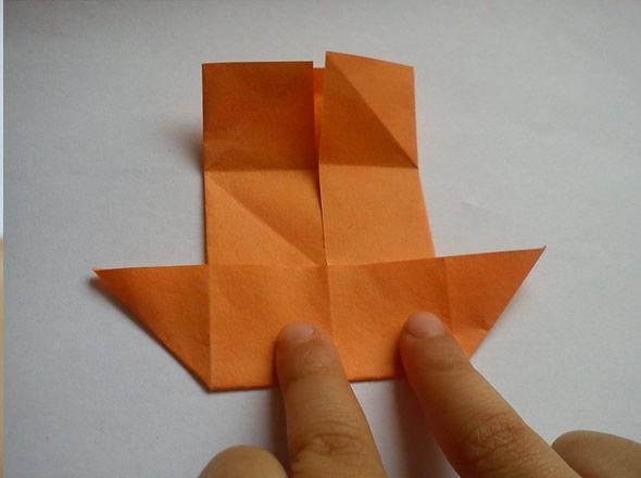 Dobradura com papel passo a passo