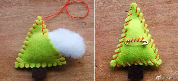 Artesanato com feltro para o Natal