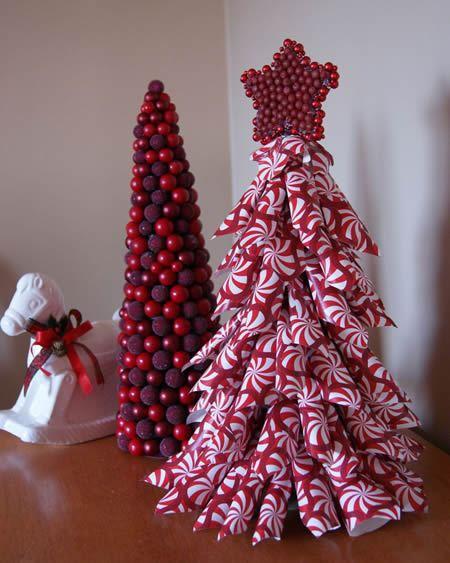 decoracao arvore de natal passo a passo:Árvore de Natal de papel para decoração da casa passo a passo