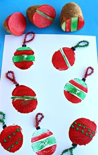 Decoração para o Natal com estampas coloridas