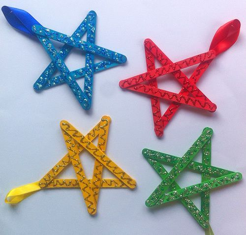 Reciclagem de palitos de picolé para artesanato de Natal