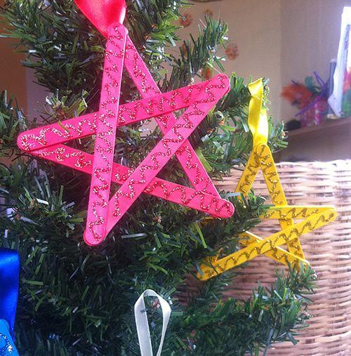 Enfeite artesanal e reciclado para Árvore de Natal