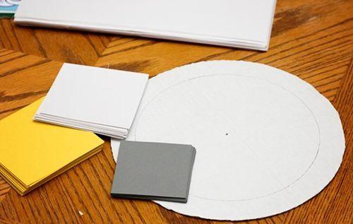 Decoração com papel colorido para casamento
