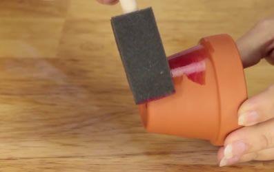Como pintar vasinho de barro