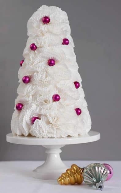 Como fazer árvore de Natal para decoração com forminhas