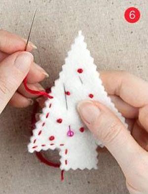 Arvorezinha de Natal em feltro passo a passo