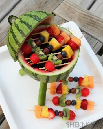 Decoração com frutas para festa