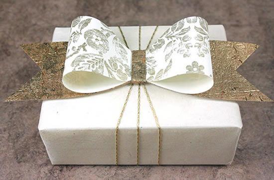 Бантик своими руками на подарочную коробку