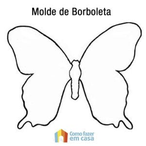 Molde de borboleta para recortar