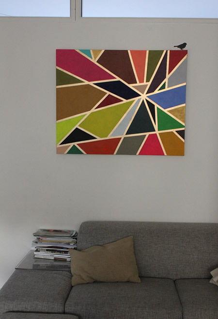 Como fazer quadro decorativo colorido de um jeito fácil