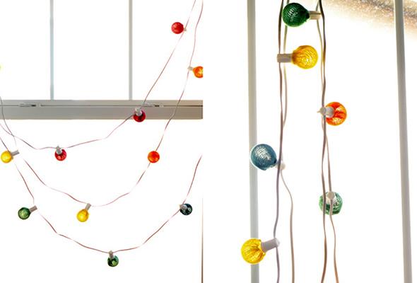 Decoração colorida com lâmpadas passo a passo