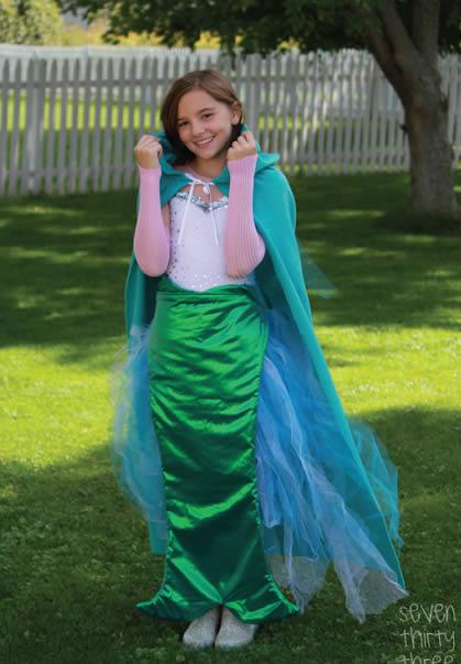 Fantasia de pequena sereia para o Carnaval