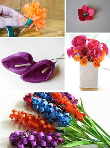 5 tipos diferentes de flores de papel para decoraç u0 -> Decoração De Flores De Papel Para Aniversario