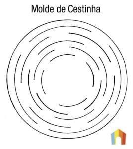 Molde de cestinha